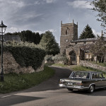 Scaldwell church. Mercedes Benz 600