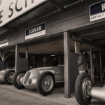 Mercedes GP garage at Goodwood Revival