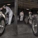 Auto Union garage at Goodwood Revival.